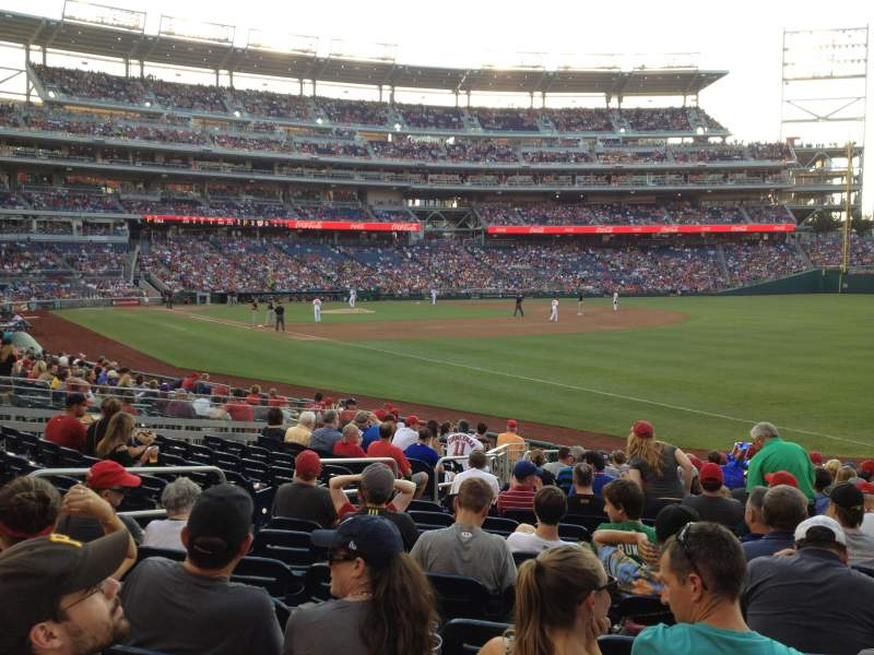 Seating view for Nationals Park Section 135 Row T Seat 9