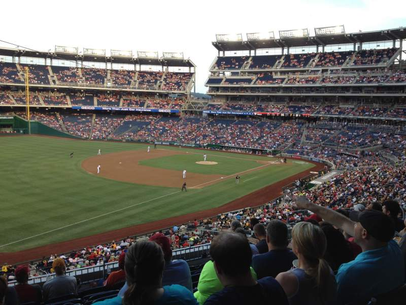 Seating view for Nationals Park Section 203 Row H Seat 9
