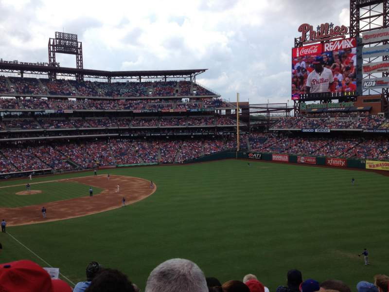 Seating view for Citizens Bank Park Section 207 Row 6 Seat 9
