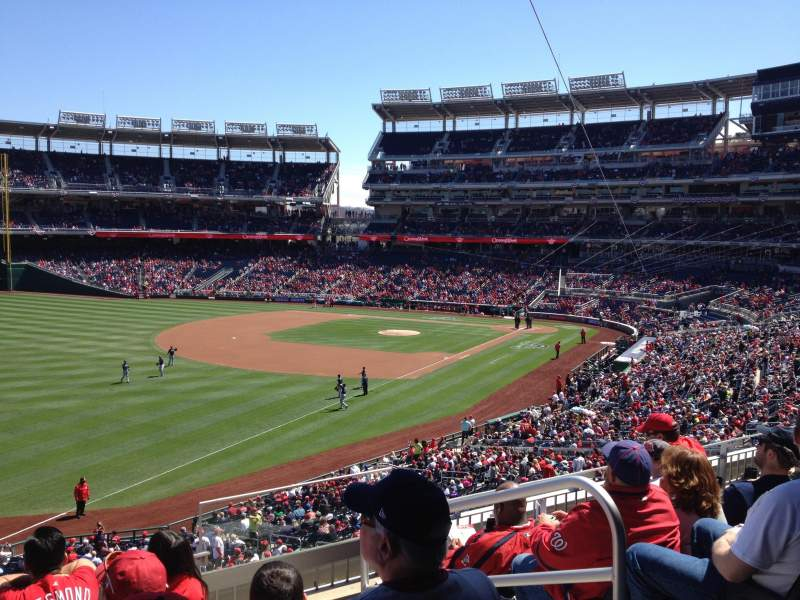 Seating view for Nationals Park Section 202 Row E Seat 3