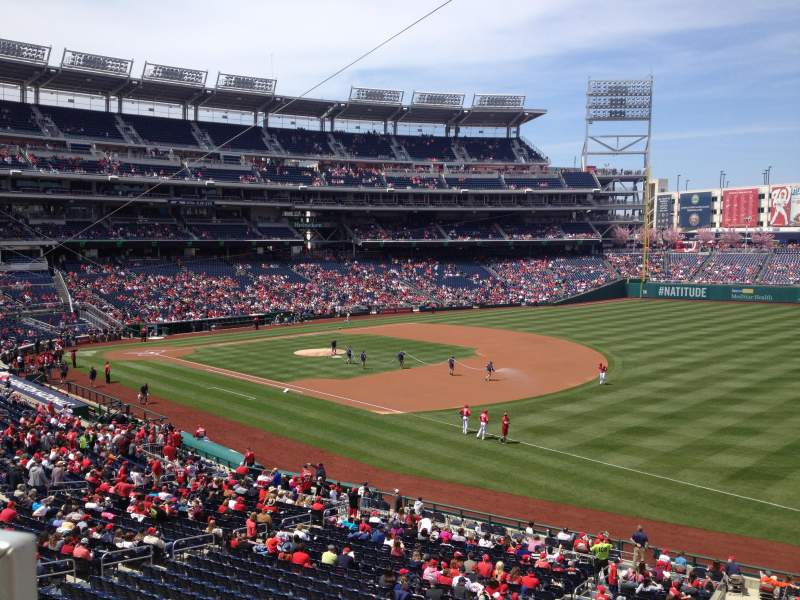 Seating view for Nationals Park Section 227 Row A Seat 18
