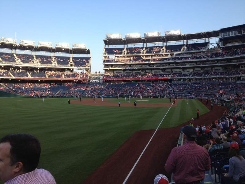 Seating view for Nationals Park Section 107 Row AA Seat 6