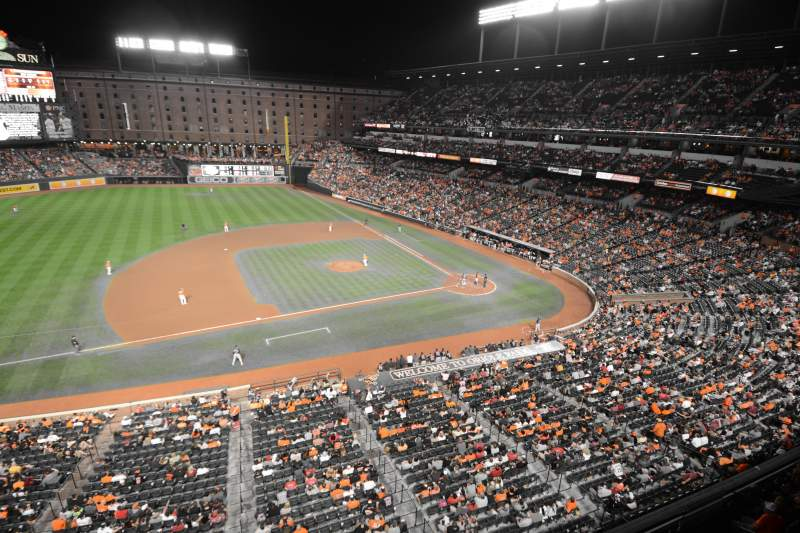 Seating view for Oriole Park at Camden Yards Section 356 Row 1 Seat 1