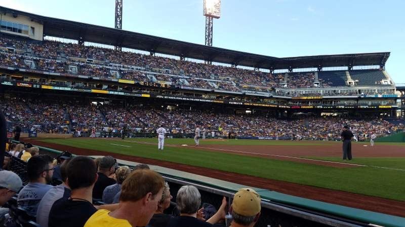 Seating view for PNC Park Section 6 Row C Seat 8