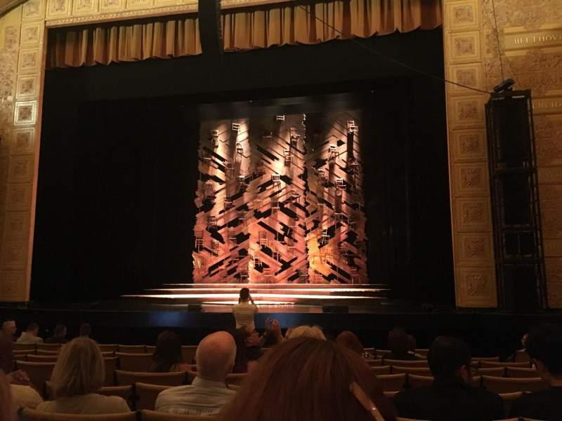 Seating view for Auditorium Theatre Section Orchrc Row L Seat 205