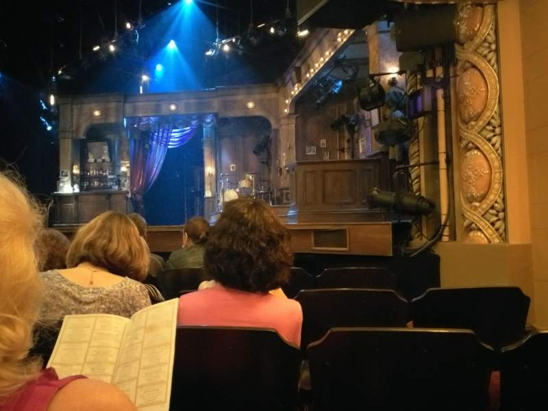 Seating view for Bernard B. Jacobs Theatre Section Orchestra Row E Seat 12