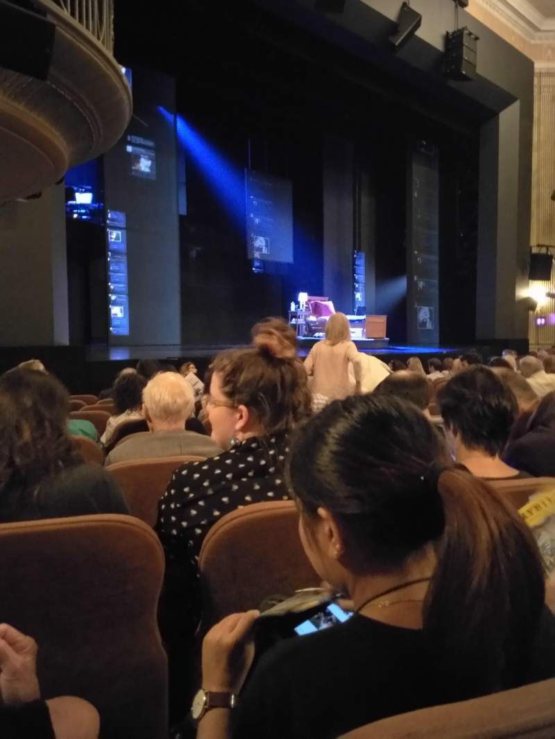 Seating view for Music Box Theatre Section Orchestra L Row L Seat 23