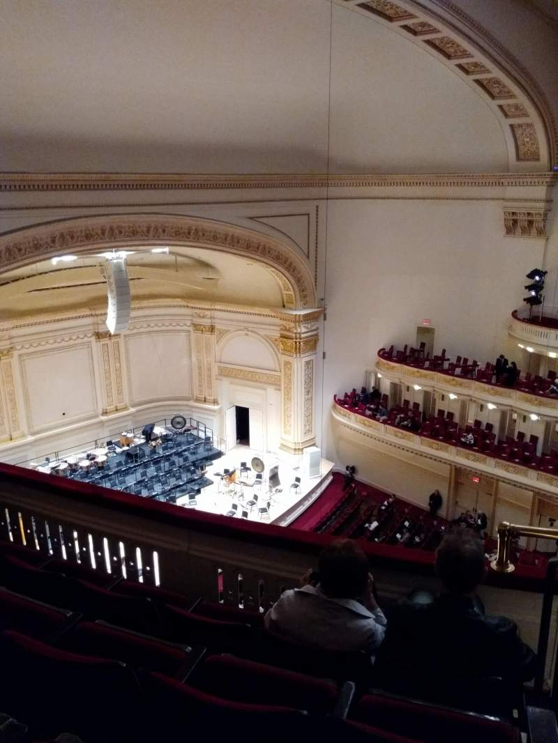Seating view for Carnegie Hall Section Balcony Row D Seat 51