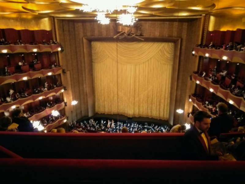 Seating view for Metropolitan Opera House - Lincoln Center Section Family Circle Row B Seat 210
