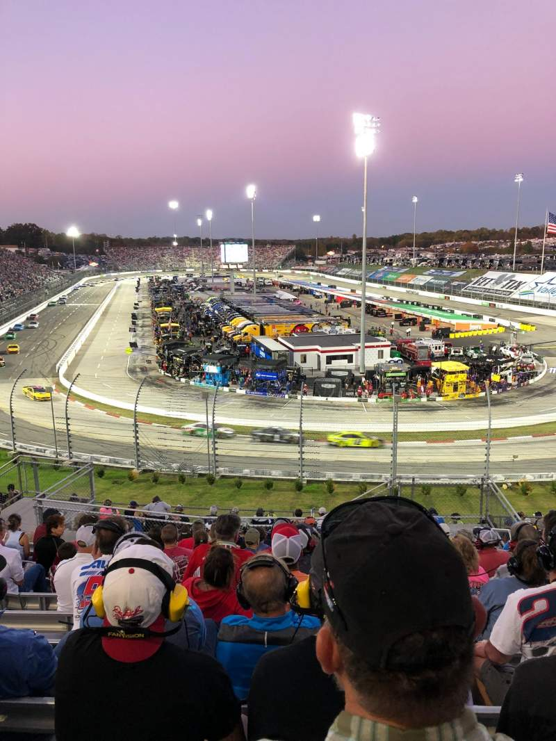 Seating view for Martinsville Speedway Section 102 Row 26 Seat 3