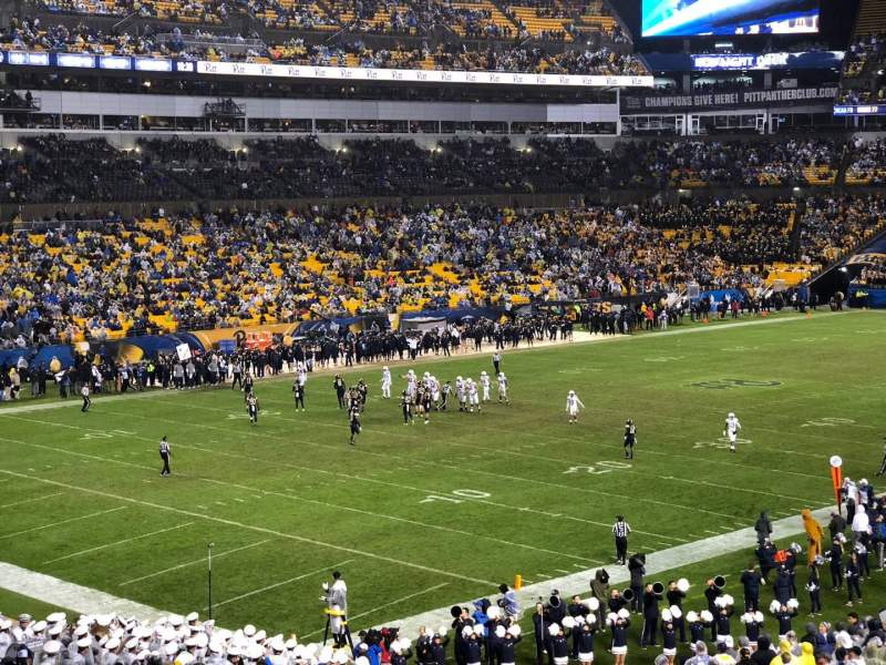 Seating view for Heinz Field Section 104 Row MM