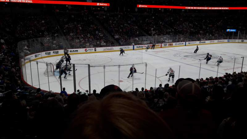 Seating view for Pepsi Center Section 106 Row 18 Seat 19