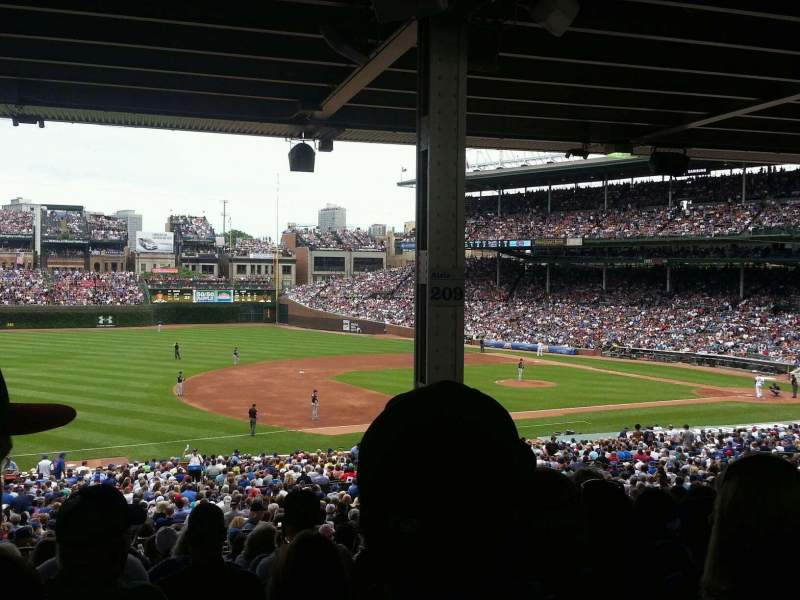 Seating view for Wrigley Field Section 208 Row 15 Seat 20