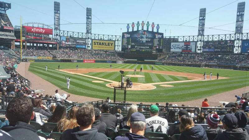 Seating view for Guaranteed Rate Field Section 132 Row 21 Seat 6