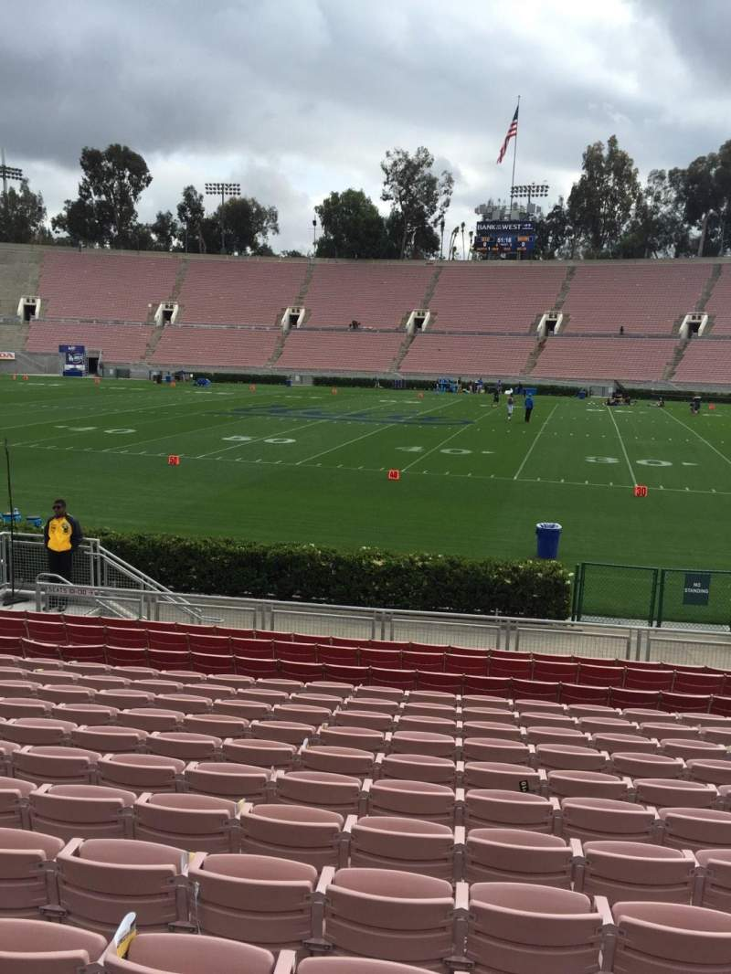 Seating view for Rose Bowl Section 20 Row 13