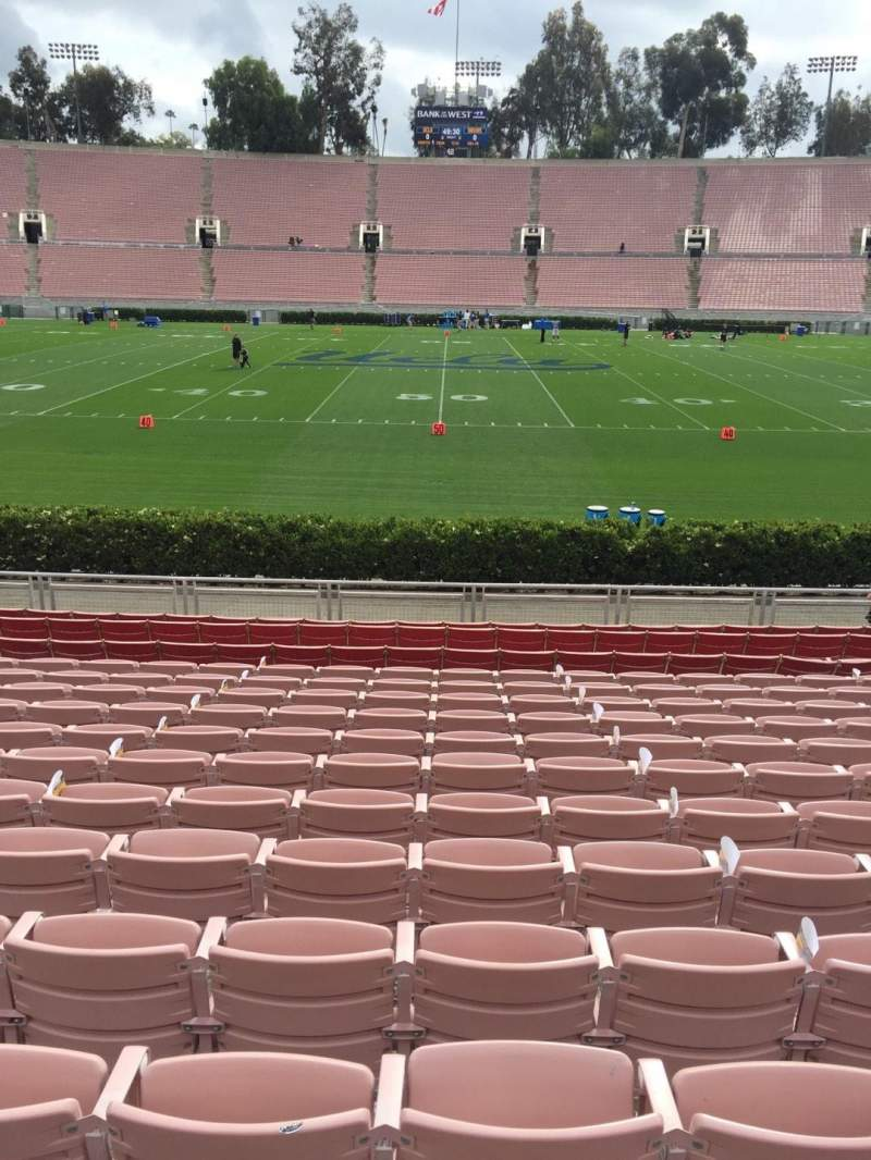 Seating view for Rose Bowl Section 19-L Row 13