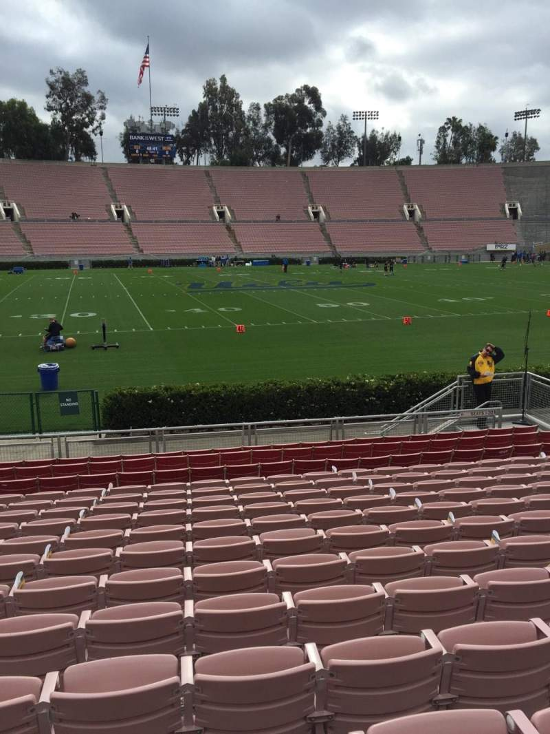 Seating view for Rose Bowl Section 18 Row 13