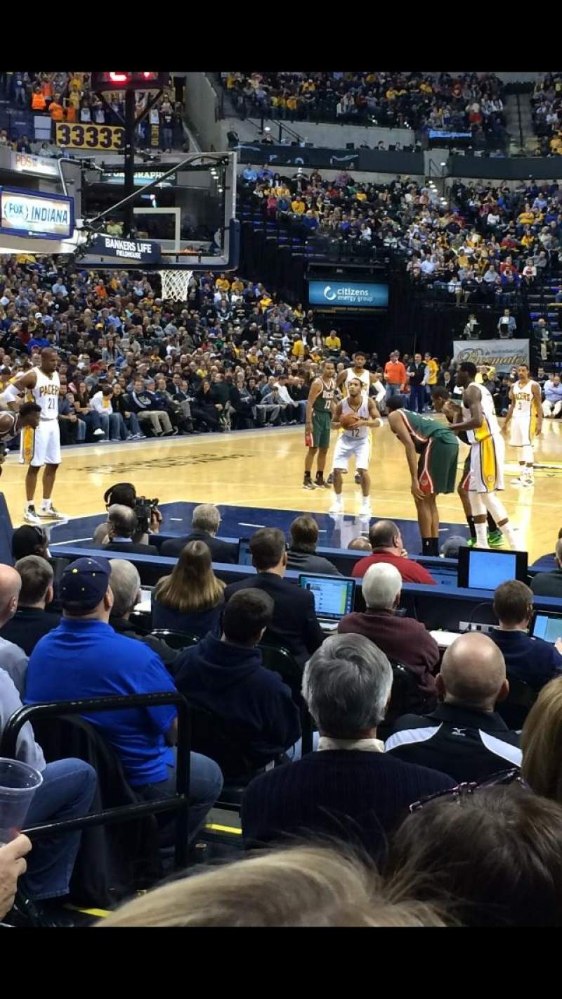 Seating view for Bankers Life fieldhouse Section 9 Row 9