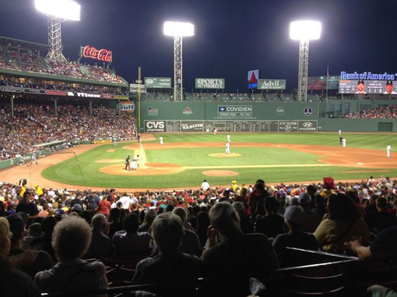 Seating view for Fenway Park Section Grandstand 17 Row 2 Seat 13