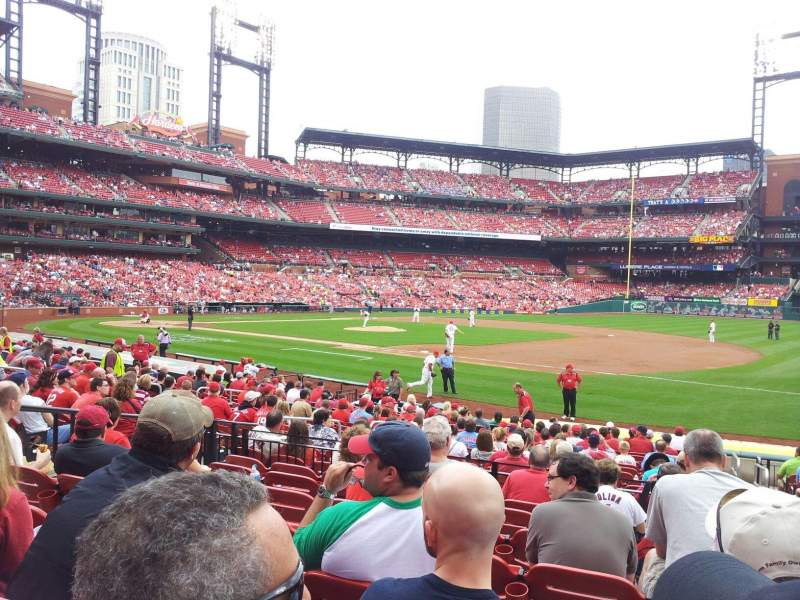 Seating view for Busch Stadium Section 140 Row 8 Seat 10