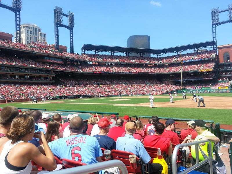 Seating view for Busch Stadium Section 141D Row K Seat 1