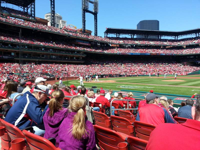 Seating view for Busch Stadium Section 143 Row 1 Seat 5