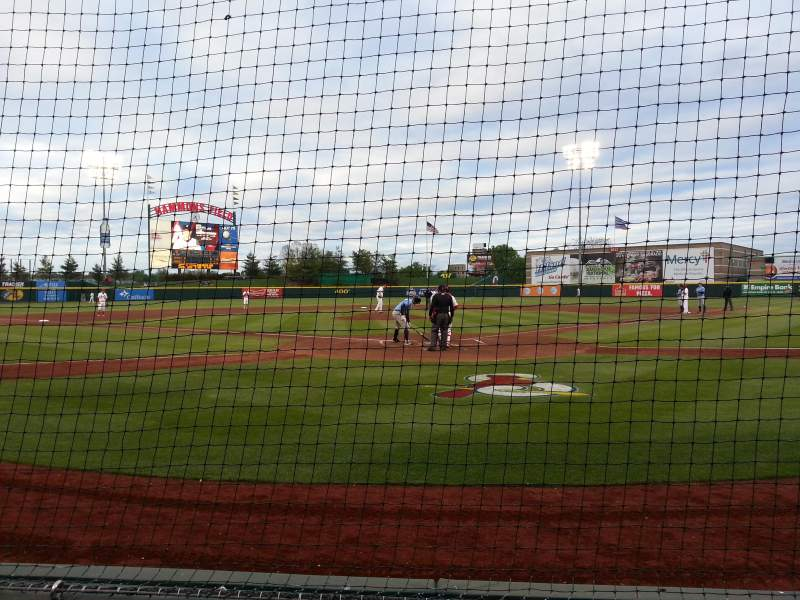 Hammons Field, section: H, row: 2, seat: 14