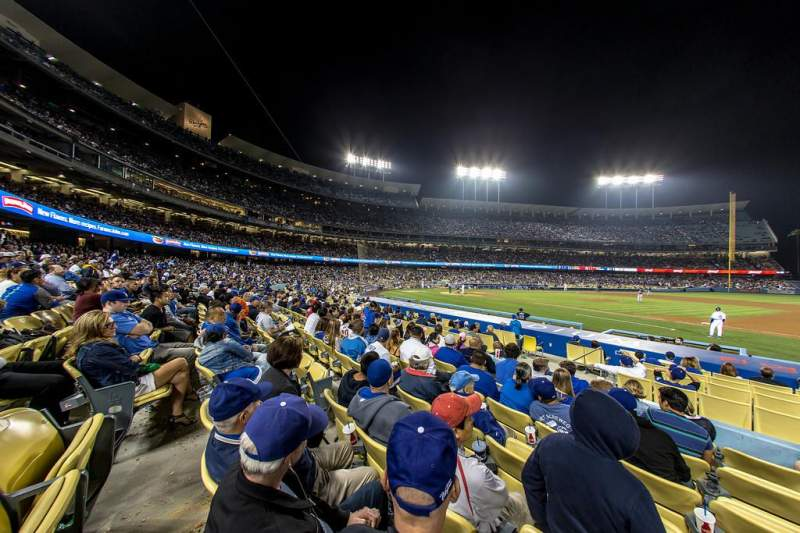Seating view for Dodger Stadium Section Field Box VIP 24 Row G Seat 5