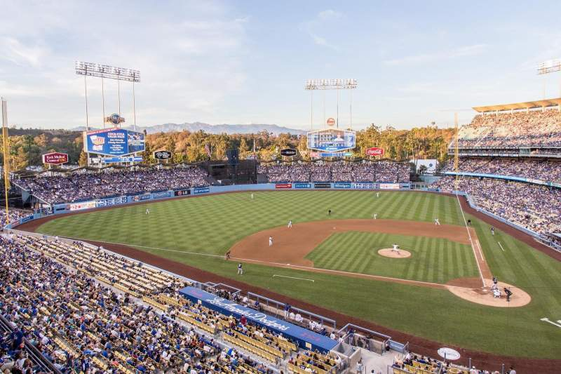 Seating view for Dodger Stadium Section Reserve 9 Row A Seat 13