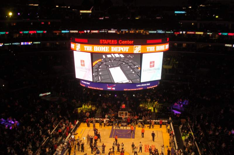 Seating view for Staples Center Section 326 Row 4 Seat 7