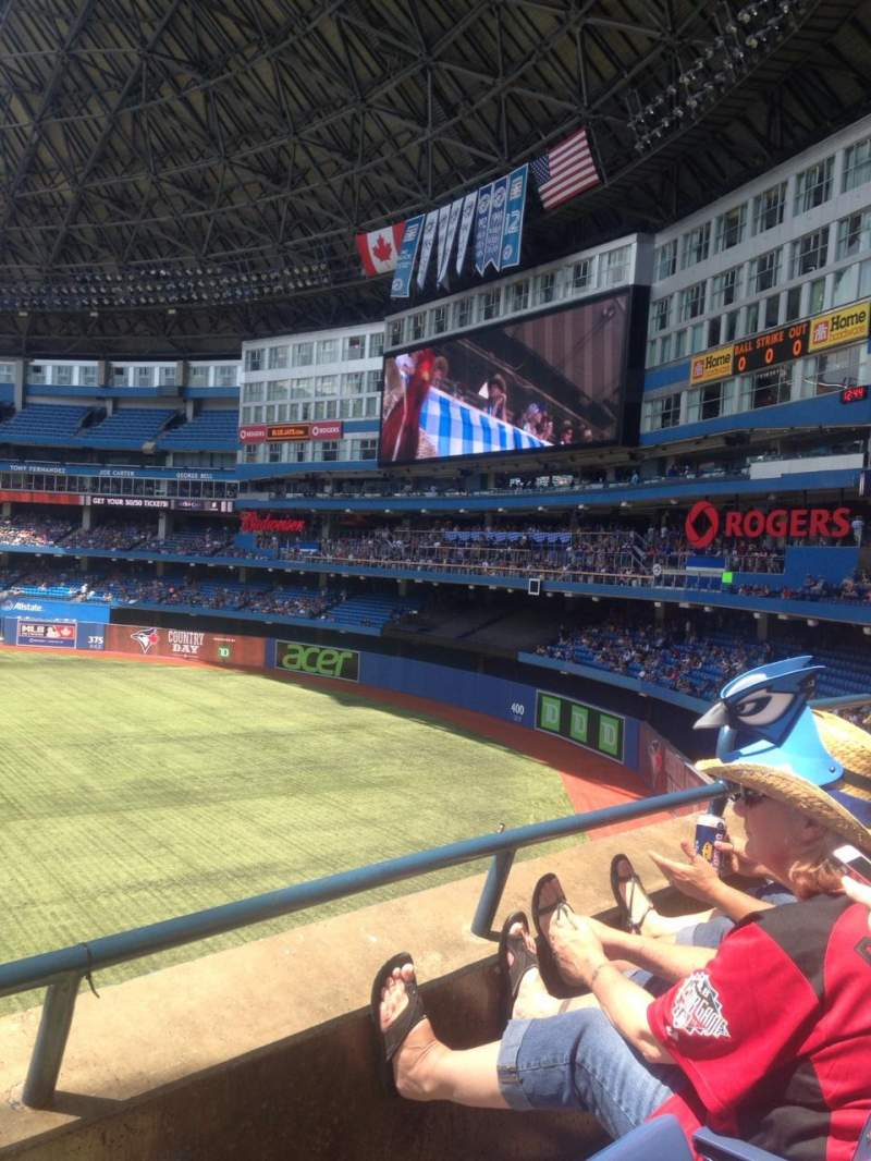 Seating view for Rogers Centre Section 209L Row 2 Seat 105