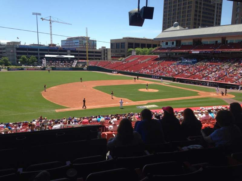 Seating view for Coca-Cola Field Section 113 Row KK Seat 19