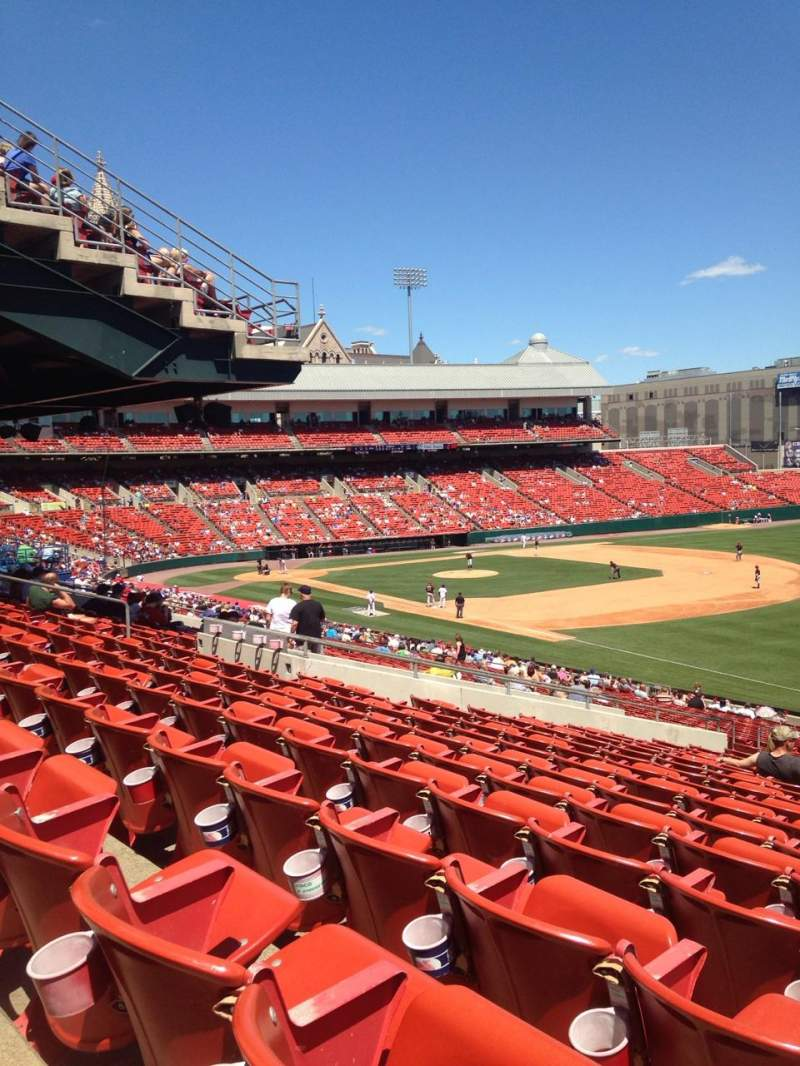 Seating view for Coca-Cola Field Section 122 Row NN Seat 1