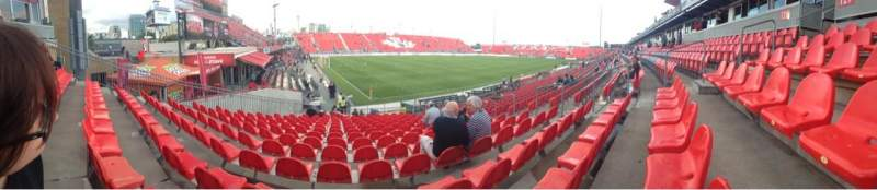 Seating view for BMO Field Section 127 Row 15 Seat 10