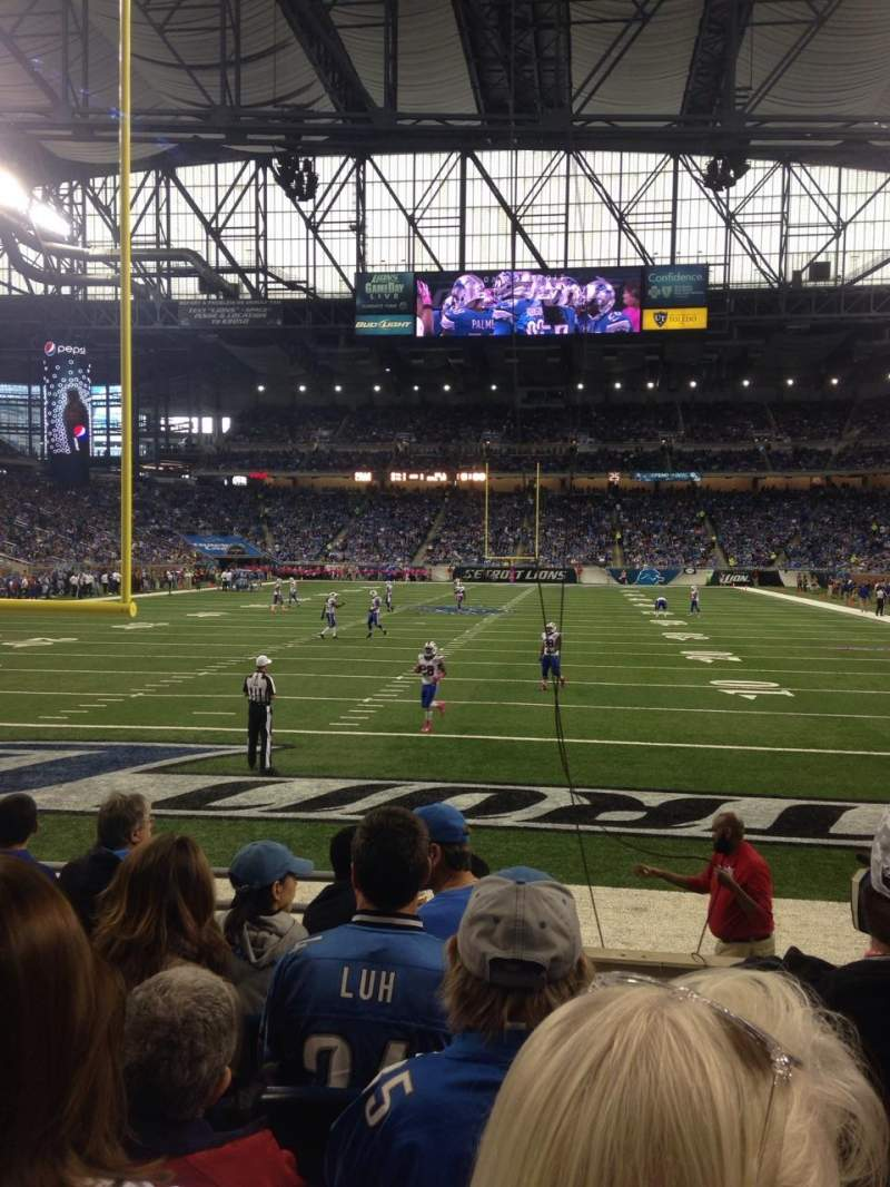 Seating view for Ford Field Section 117 Row 6 Seat 15