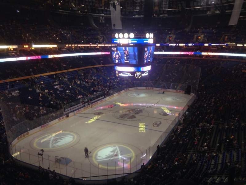Seating view for KeyBank Center Section 325 Row 3 Seat 3