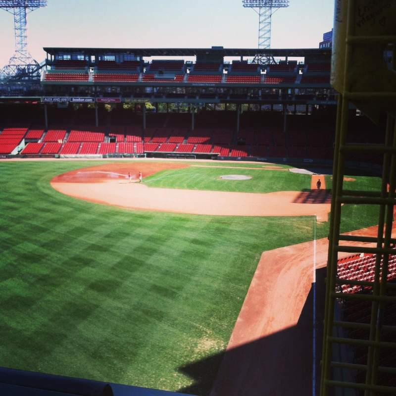 Seating view for Fenway Park Section Green Monster 1 Row 1 Seat 1