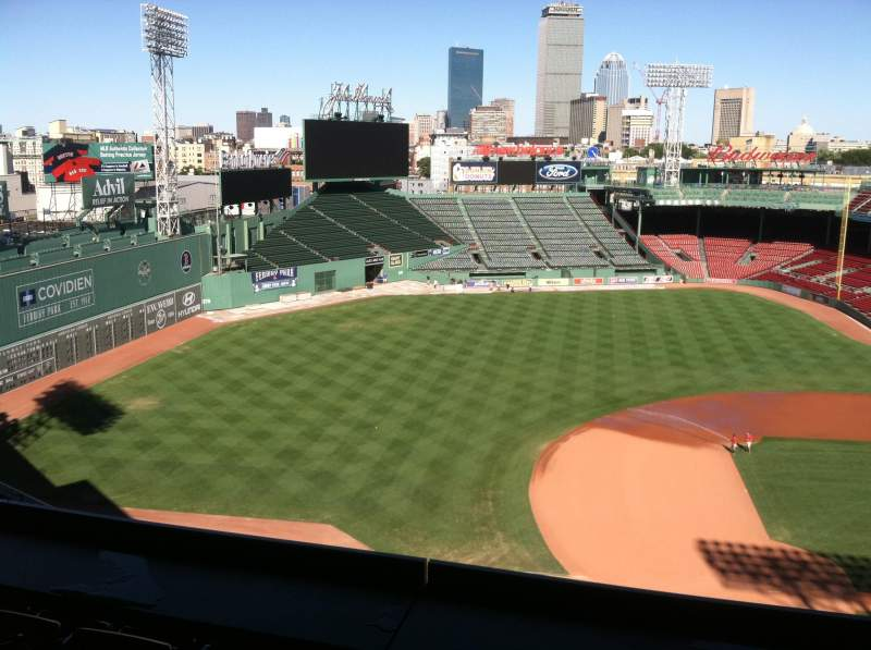 Seating view for Fenway Park Section Pavilion Box