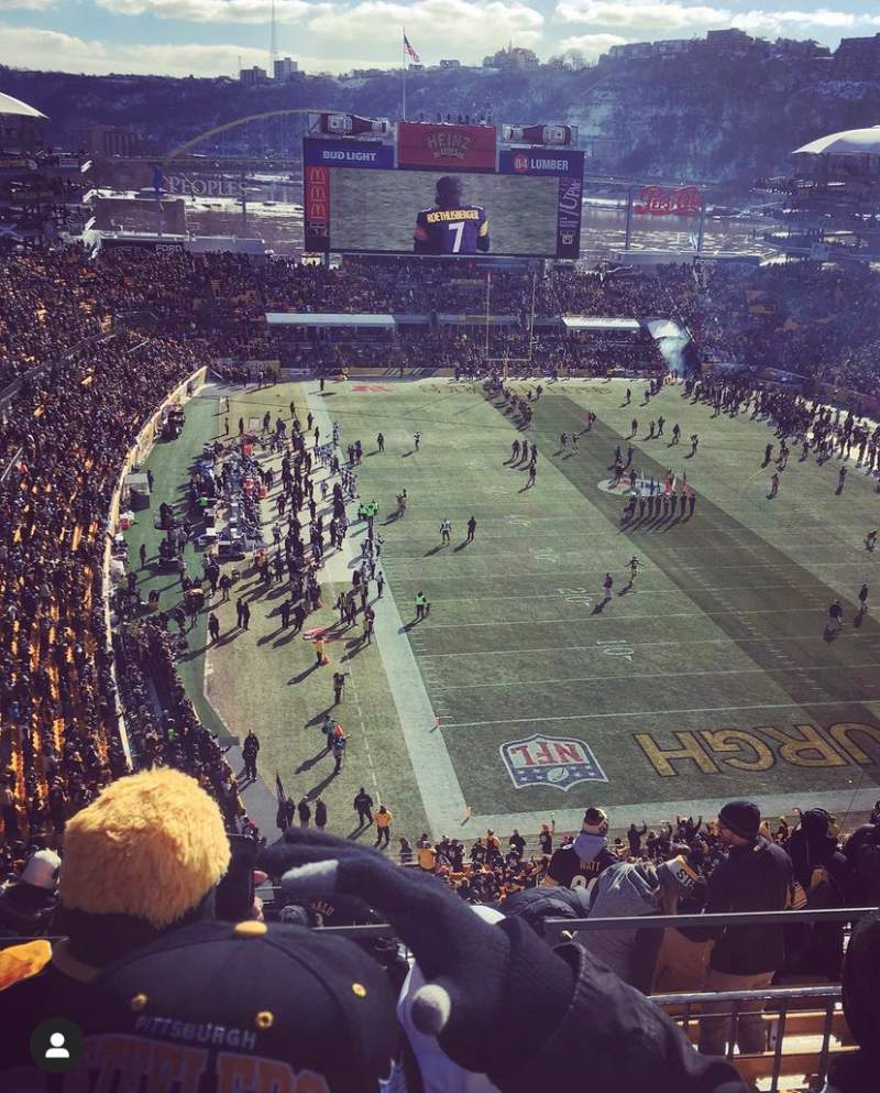 Seating view for Heinz Field Section 520 Row O Seat 14