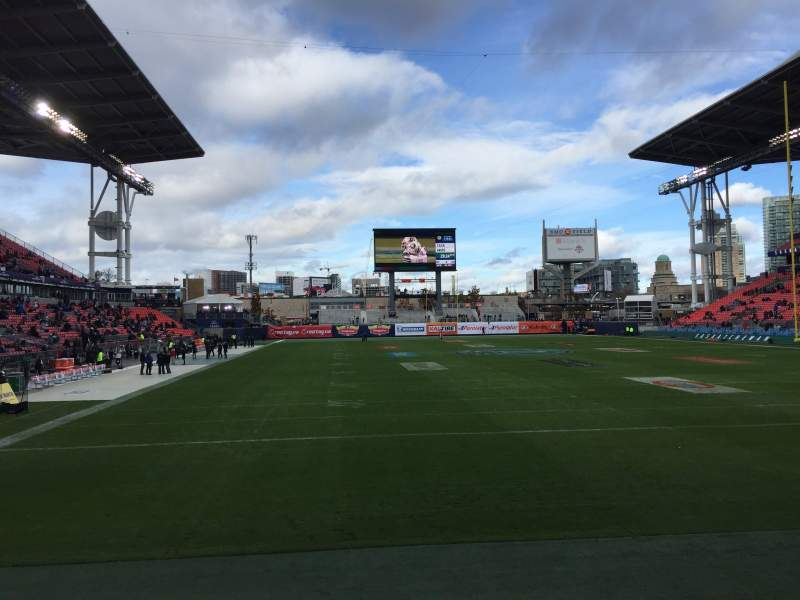 Seating view for BMO Field Section 116 Row 1 Seat 1