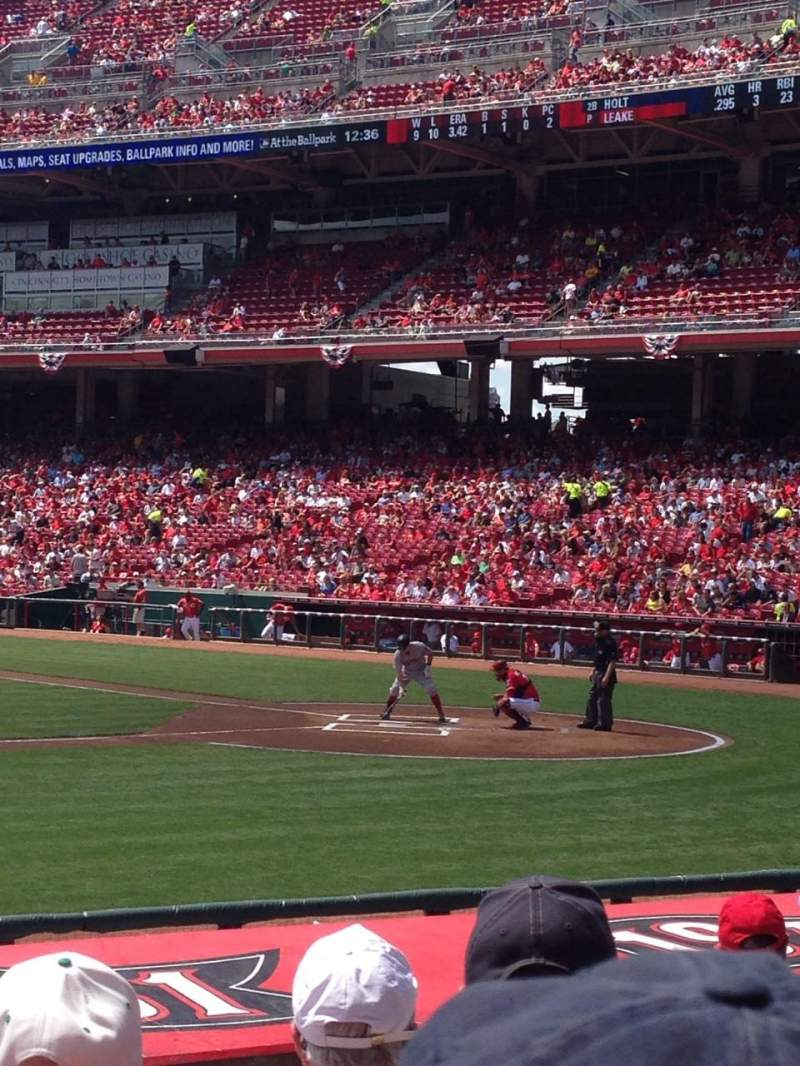 Great American Ball Park, section: 116, row: M, seat: 5