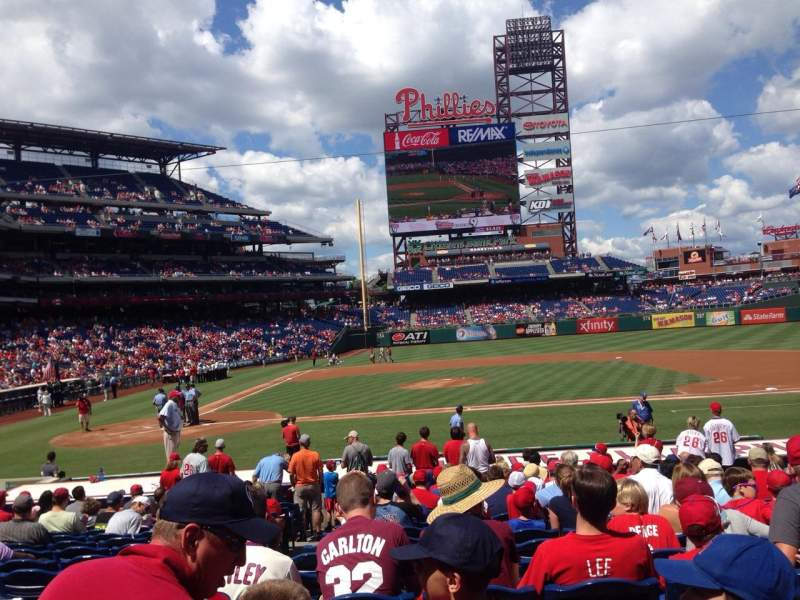 Seating view for Citizens Bank Park Section 117 Row 17 Seat 16