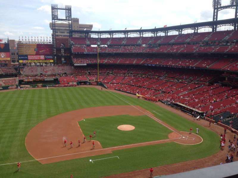Seating view for Busch Stadium Section 357 Row 1 Seat 18
