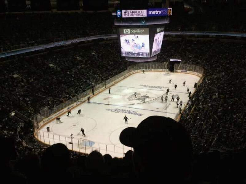Seating view for SAP Center Section 206 Row 16 Seat 17