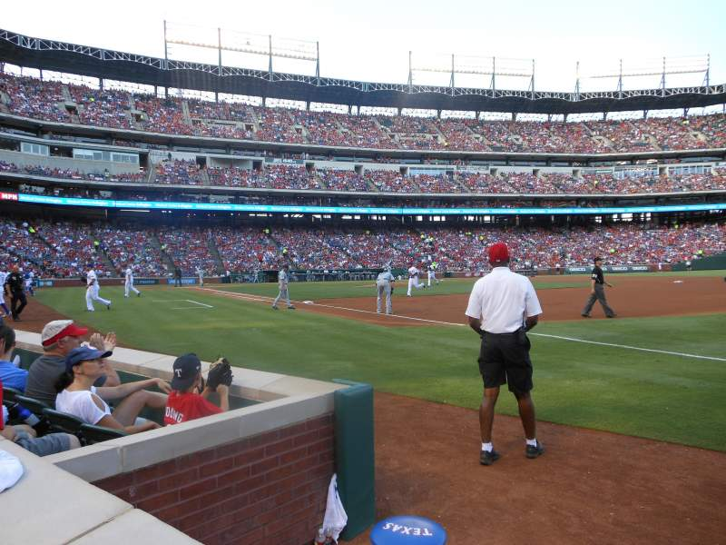 Seating view for Globe Life Park in Arlington Section 37 Row 1 Seat 5