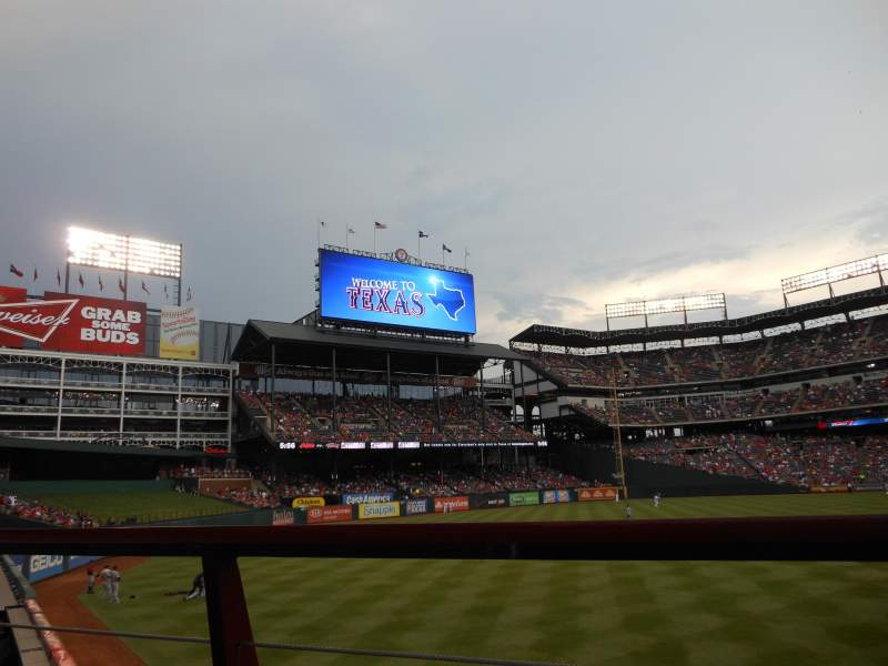 Seating view for Globe Life Park in Arlington Section 8 Row 1 Seat 11
