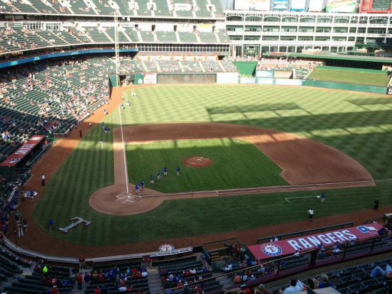 Seating view for Globe Life Park in Arlington Section Nolan Ryan Suite 225A Row 1 Seat 1