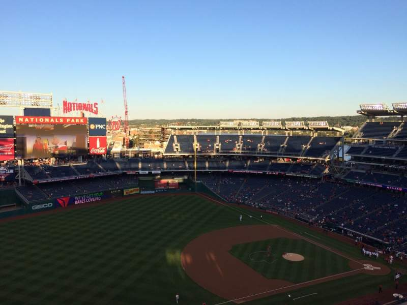 Seating view for Nationals Park Section 404 Row K Seat 4