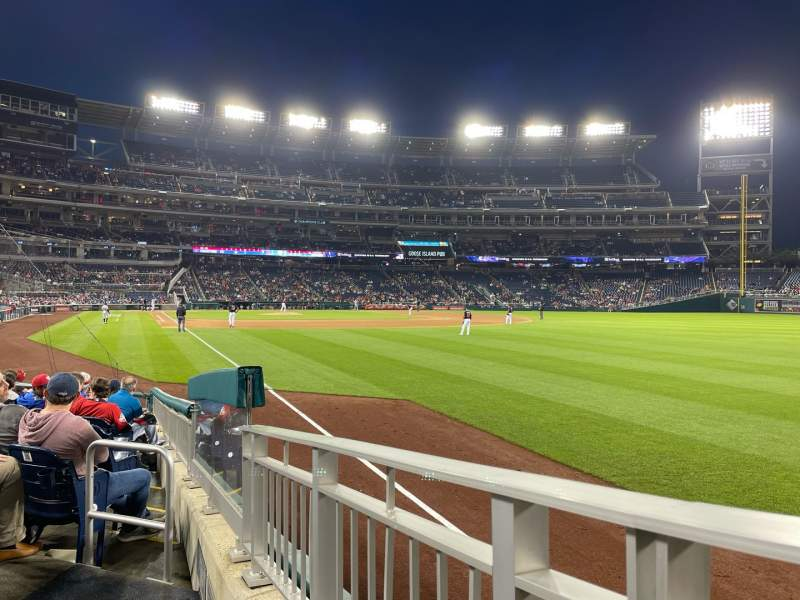 Seating view for Nationals Park Section 137 Row M Seat 23