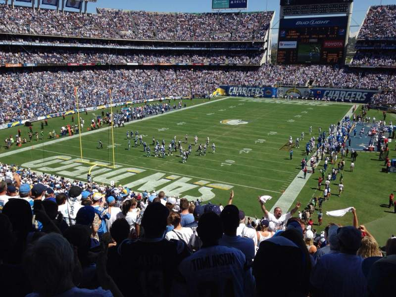 Seating view for Qualcomm Stadium Section L24 Row 11 Seat 16